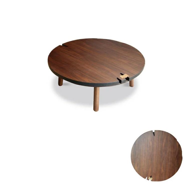 105cm×105cmタイプ 【ヌード】 ウォールナット色 暖卓機能付フロアテーブル お洒落こたつ リビングテーブル ローテーブル