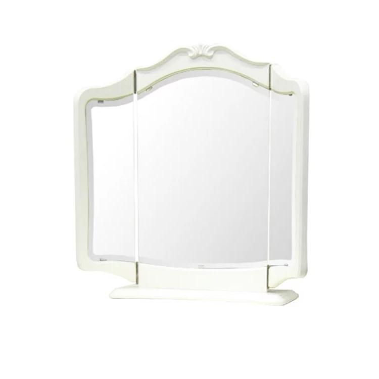 リモージュW 置三面鏡 アンティーク家具 白家具 アンティーク調 ヨーロピアン クラシック家具 洋風家具 輸入 エレガント