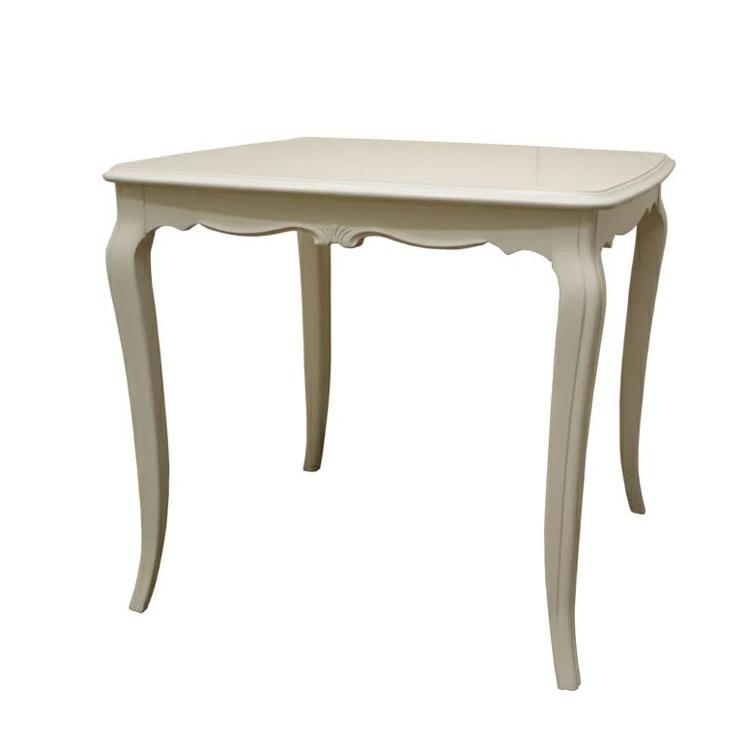 リモージュW DT80 ダイニングテーブル80 アンティーク家具 白家具 アンティーク調 ヨーロピアン クラシック家具 洋風家具 輸入 エレガント