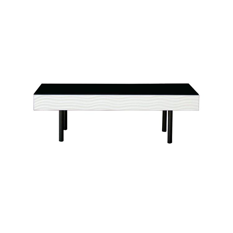 【送料無料】105cmリビングテーブル「シュール」センターテーブル ホワイト (才数:3.1才)