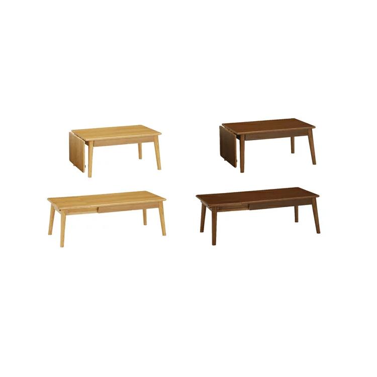 寛ぎ感のある センターテーブル 伸張式 伸長式 伸縮式 (幅80cm) CT-110399