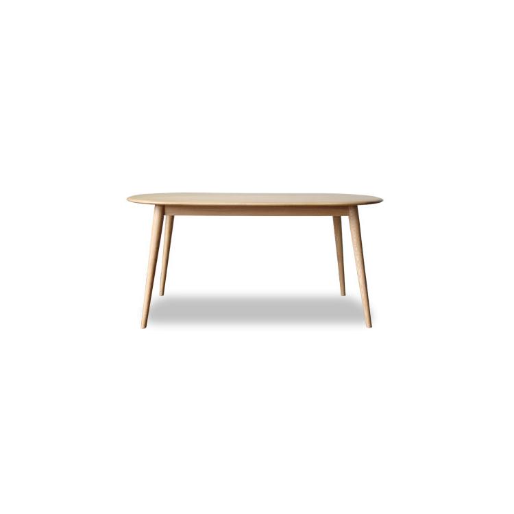 【ダイニングテーブル150cm】北欧スタイルの 楕円 1500 だ円 楕円形 北欧 オーク 材 ナチュラル 木製 天然木 リビング