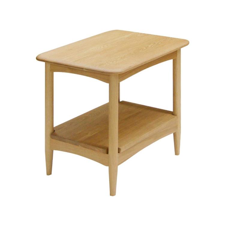 【サイドテーブル】北欧スタイル 北欧 オーク 材 ナチュラル 木製 天然木 机 ダイビング や リビング ベッド ルーム に