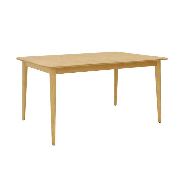 【長方形ダイニングテーブル】北欧スタイル 1400 北欧 オーク 材 ナチュラル 木製 天然木 リビング