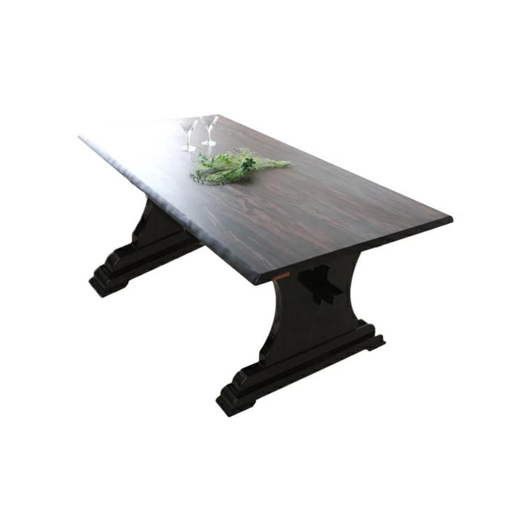 【展示品1点限り】【黒檀テーブル】173cm 天然木 4枚ハギ 6人掛け 無垢