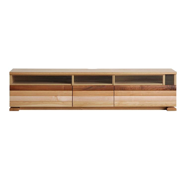 【160cm】テレビボード 天然木の素材感が和みをあたえてくれる 北欧風のリビングボード 日本製