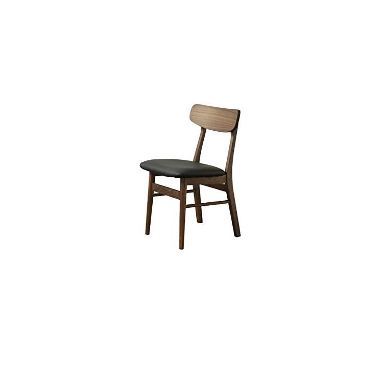 【送料無料】シンプル モダン な ダイニングチェアブラウン ブラック シック レザー PVC 北欧 オシャレ おしゃれ 椅子 食卓椅子 ウォールナット ウオールナット 茶 肘なし アームレスチェア