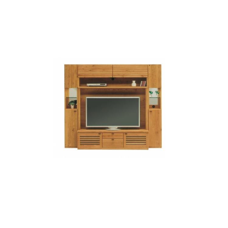 【TVブランケット有り】Oak Gallery (オークギャラリィ)シリーズ BUMP(バンプ) リビング3点セット <150リビングボード+30キャビネット(左右各1)>