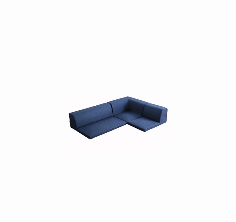 コーナーフロアソファ ロータイプ ファブリック 3人掛け(5色)組み替え自由 Linaria-リナリア-