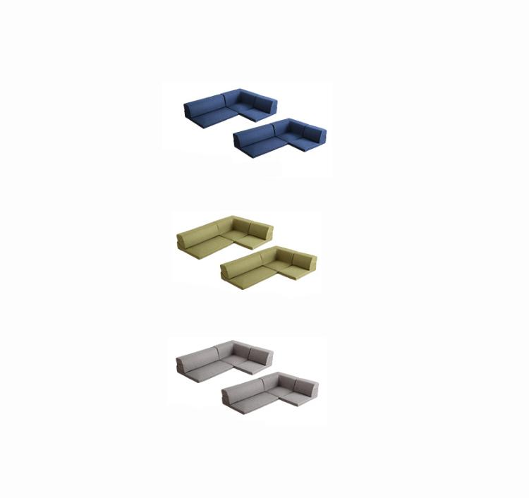 【11/4(月)20時~クーポン有】 コーナーフロアソファ ロータイプ ファブリック 3人掛け(5色)同色2セット|Linaria-リナリア-