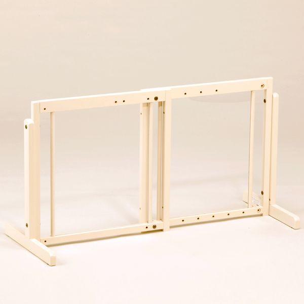 「スタンドゲート 60A アクリル」ペットゲート 犬 ゲート 木製 室内 伸縮 幅調節 自立型