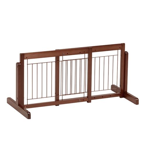 「スタンドゲート 45 A メッシュ」ペットゲート 犬 ゲート ペット用ゲート 木製 室内 伸縮 幅調節 自立型