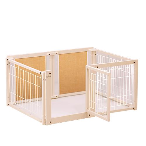 ペットサークル 『ペット サークルF60 L メッシュB』 小型犬 サークル サークル 多頭飼い 木製 スチール 室内用 日本製