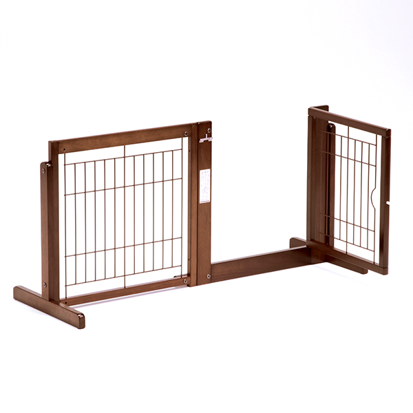 「システムゲート BF 60 メッシュ」ペットゲート 犬 ゲート 木製 室内 ドア付き自立型