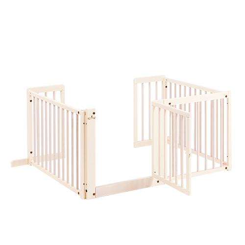 『コの字 ゲート F60L』木製 室内 ペットゲート 犬 ゲート