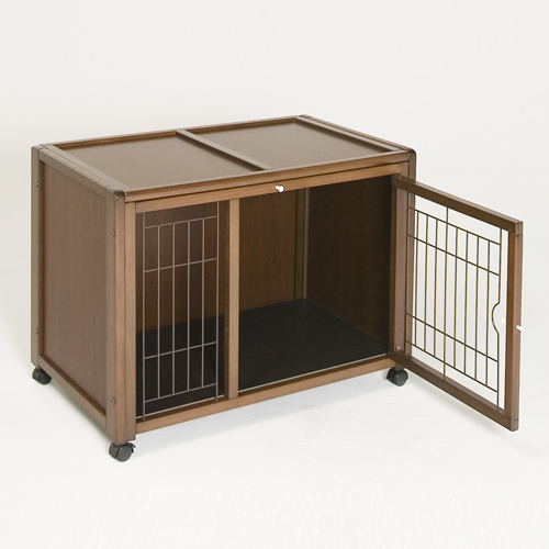 キャットケージ [ ペットケージ ハウス AS88] 猫 キャットゲージ ペット ケージ 木製 おしゃれ 室内用 キャスター付き スライド屋根付き 日本製