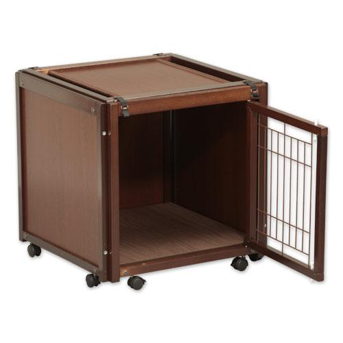 「ペットケージ FR 60 SS メッシュ」 犬 ゲージ 犬 ケージ 木製 小型犬 ケージ 小型犬 ゲージ サークル 室内用 キャスター付き 屋根付き