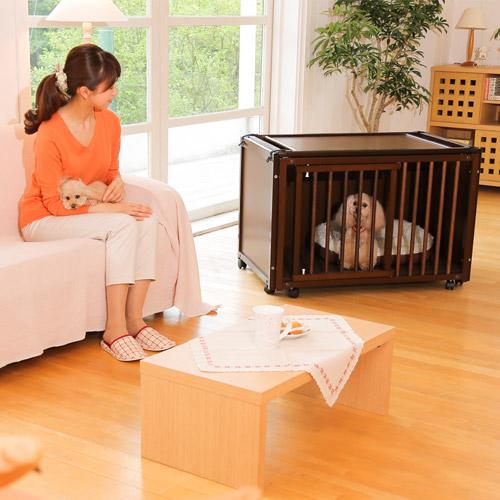 「ペットケージ FR 60 XS+ニュークリネスシートFRXS用」 犬 ゲージ 犬 ケージ 木製 小型犬 ケージ 小型犬 ゲージ サークル 室内用 キャスター付き 屋根付き [お得なセット販売] [セール]