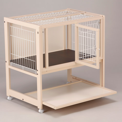 Cage High Type Slide 90A Mesh Dog Gage Dog Cage Small Dog Indoor Wooden Pet Cage  Storage Shelves With Castors