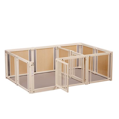 激安な ペットサークル [ サークル ルーム F 60 XLp アクリル] 木製 サークル 多頭飼い 小型犬 室内用 日本製 仕切り 2部屋, デザイナーズ家具専門店-PERKS 0bf62b3e