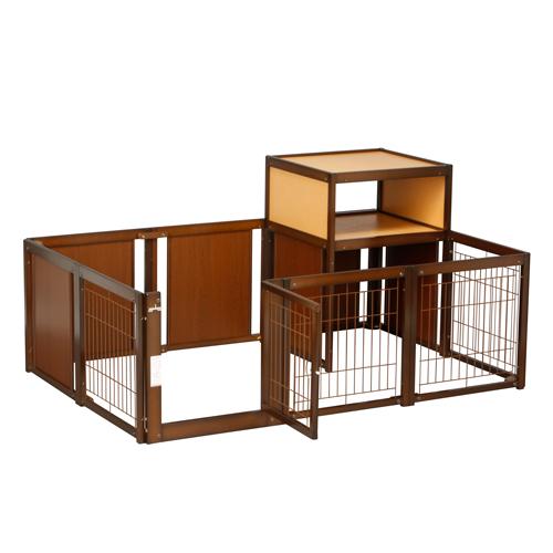 [サークル F60XLp メッシュ Tセット] サークル 木製 収納 室内用 日本製