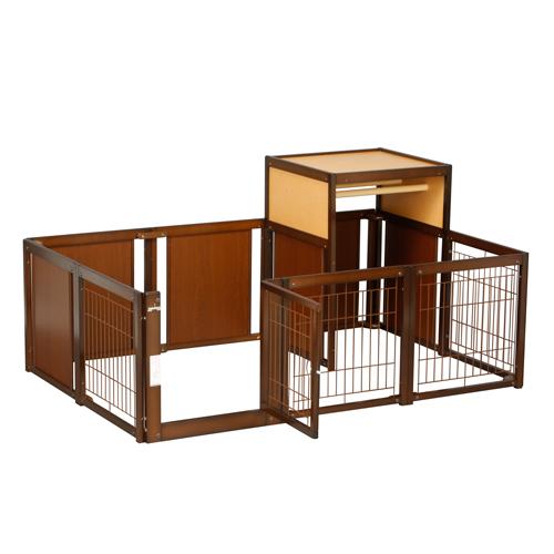 人気定番 [サークル F60XLp メッシュ THセット] サークル 木製 収納 室内用 日本製, たなかや 80614c94