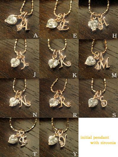 Cubic zirconia with ☆ kyg pendant