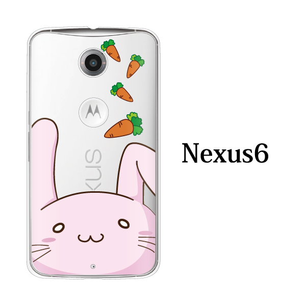 nexus6 case storage case nexus6 cover Ymobile nexus 6 cute hard case cover smahocase nexus 6 case Bunny rabbit face Chika series