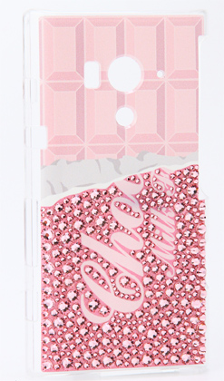 And Strawberry Chocolate Swarovski (clear) for Xperia acro HD IS12S/au / is12s cover