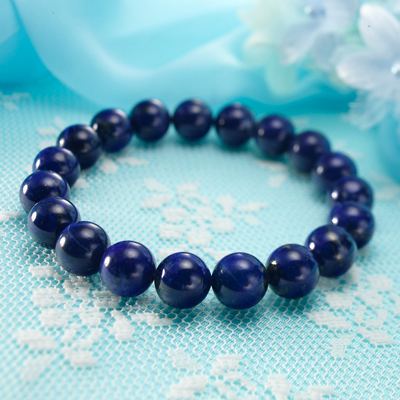 天然石 ラピスラズリ AAAA 10mmパワーストーンブレスレット(natural stone bracelet)【天然石 ブレスレッド】