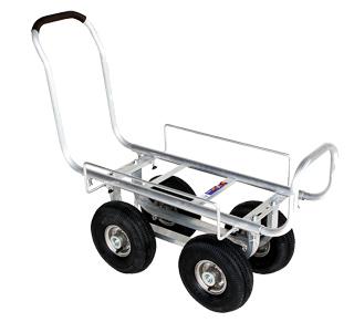 【運搬作業用品-収穫車・コンテナ車】ハラックス 愛菜号 アルミ製ハウスカー(タイヤ幅調整タイプ) CH-1000A エアータイヤ<大型・重量商品>