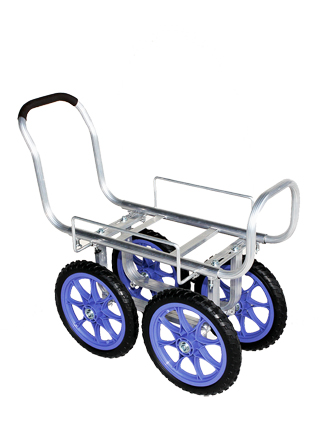 【運搬作業用品-収穫車・コンテナ車】ハラックス 愛菜号 アルミ製ハウスカー(タイヤ幅調整タイプ) CH-1300 ノーパンクタイヤ <大型・重量商品>