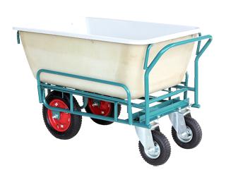 【運搬作業用品-収穫車・コンテナ車】ハラックス スチール飼料運搬車 飼料用4型(4輪車) SSM-240-4 <大型・重量商品>