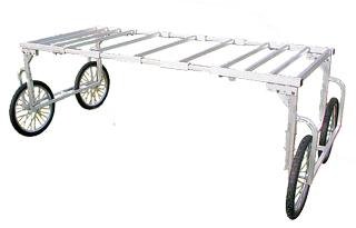 【運搬作業用品-収穫車・コンテナ車】ハラックス 楽太郎 RA-100/RA-200共通部品 幅広用部品(部品のみの価格です) RA-W2350 <大型・重量商品>
