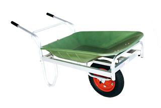 【運搬作業用品-一輪車】ハラックス コン助 プラバケット付 CN-45F エアータイヤ <大型・重量商品>