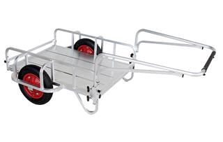 【運搬作業用品-リヤカー】ハラックス 輪太郎 アルミ製リヤカー BS-1068 エアータイヤ <大型・重量商品>