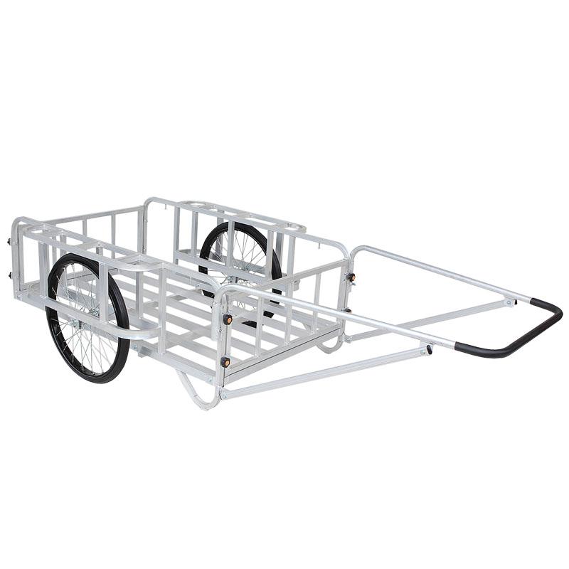 【運搬作業用品-リヤカー】ハラックス 輪太郎 アルミ製大型リヤカー(強力型)5号タイプ BS-5000T エアータイヤ <大型・重量商品>