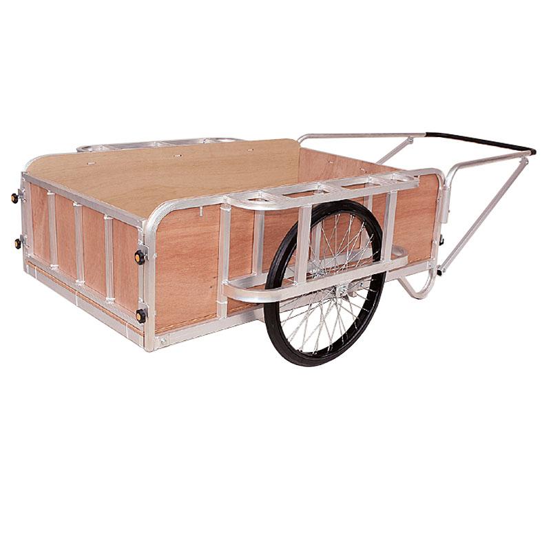 【運搬作業用品-リヤカー】ハラックス 輪太郎 アルミ製大型リヤカー(強力型)5号タイプ BS-5000NG ノーパンクタイヤ(合板パネル付) <大型・重量商品>
