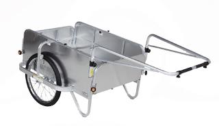 【運搬作業用品-リヤカー】ハラックス コンパック アルミ製折り畳み式リヤカー全面アルミパネル付タイプ HC-906NA-4P ノーパンクタイヤ <大型・重量商品>