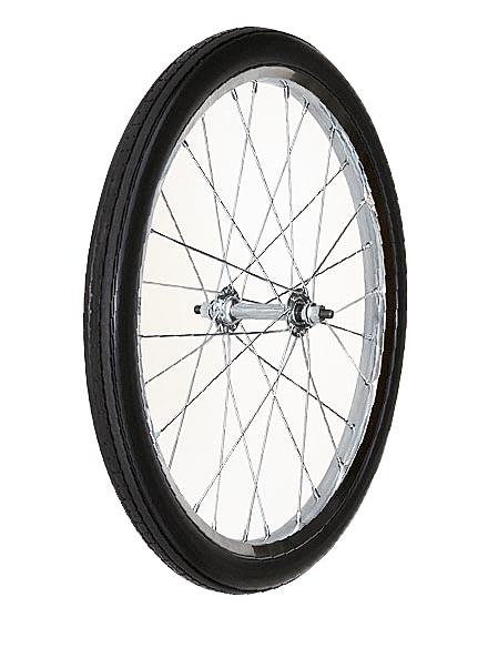 【運搬作業用品-収穫車・コンテナ車】ハララックス タイヤセット ノーパンクタイヤ(アスポークホイール) TR-20×1.75N(20インチタイヤ) ベアリング付 <大型・重量商品>