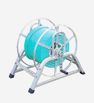 散水作業用品-ホースリール ハラックス 新品未使用正規品 スーパーセール マキ太郎 アルミ製ホース巻取器 DR-150 大型 8.5mm動噴ホース用 重量商品