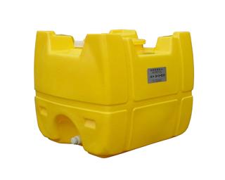 【貯水タンク-ローリータンク】モリマーサム樹脂 業務用ローリータンク SL-300 容量300L 黄 (25Aのバルブキャップ付) <大型・重量商品>