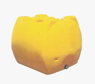 【貯水タンク-ローリータンク】モリマーサム樹脂 業務用ローリータンク SL-1200 容量1200L 黄 (40Aのフィッティング付) <大型・重量商品>
