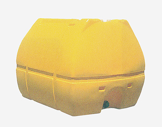 【貯水タンク-ローリータンク】モリマーサム樹脂 業務用ローリータンク SL-3000 容量3000L 黄 (50Aのフィッティング付) <大型・重量商品>
