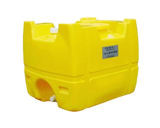 【貯水タンク-ローリータンク】モリマーサム樹脂 業務用ローリータンク SL-200 容量200L 黄 (25Aのバルブキャップ付) <大型・重量商品>