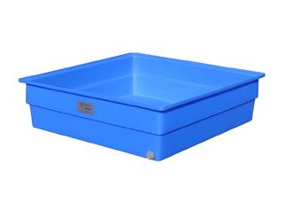 【貯水タンク-大型容器】モリマーサム樹脂 角型容器 650L 排水栓付 ブルー K-650A <大型・重量商品>
