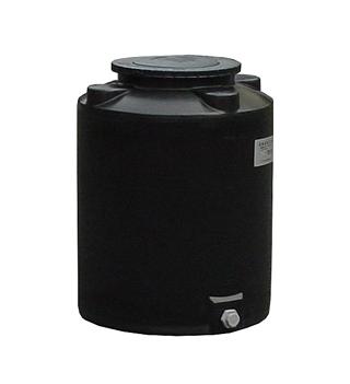 【貯水タンク-大型容器】モリマーサム樹脂 円筒型タンク 200L ブラック TF-200 <大型・重量商品>