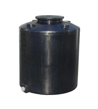 【貯水タンク-大型容器】モリマーサム樹脂 円筒型タンク 500L ブラック TM-500 <大型・重量商品>