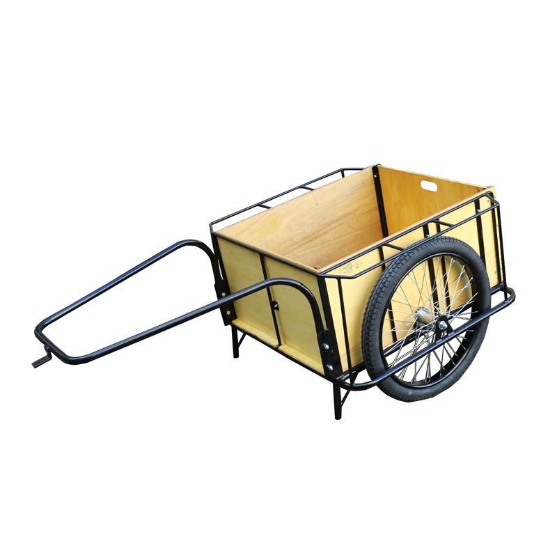 【運搬作業用品-リヤカー】大成車輌 5号リヤカー 5面板張り 空気入り車輪 <大型・重量商品>