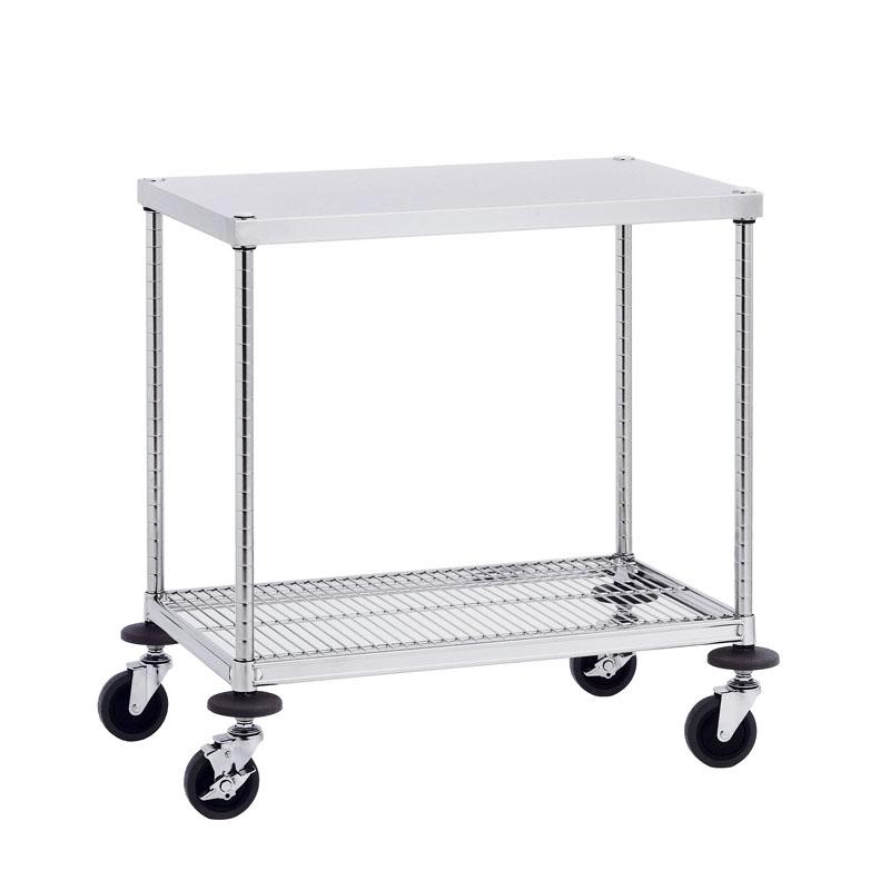 【通販 人気】 【運搬作業用品-ワゴン】キャニオン W2型ワークテーブルワゴンステンレス(SUS304)仕様 W2A-S6110 <大型・重量商品>:金象本舗店-DIY・工具